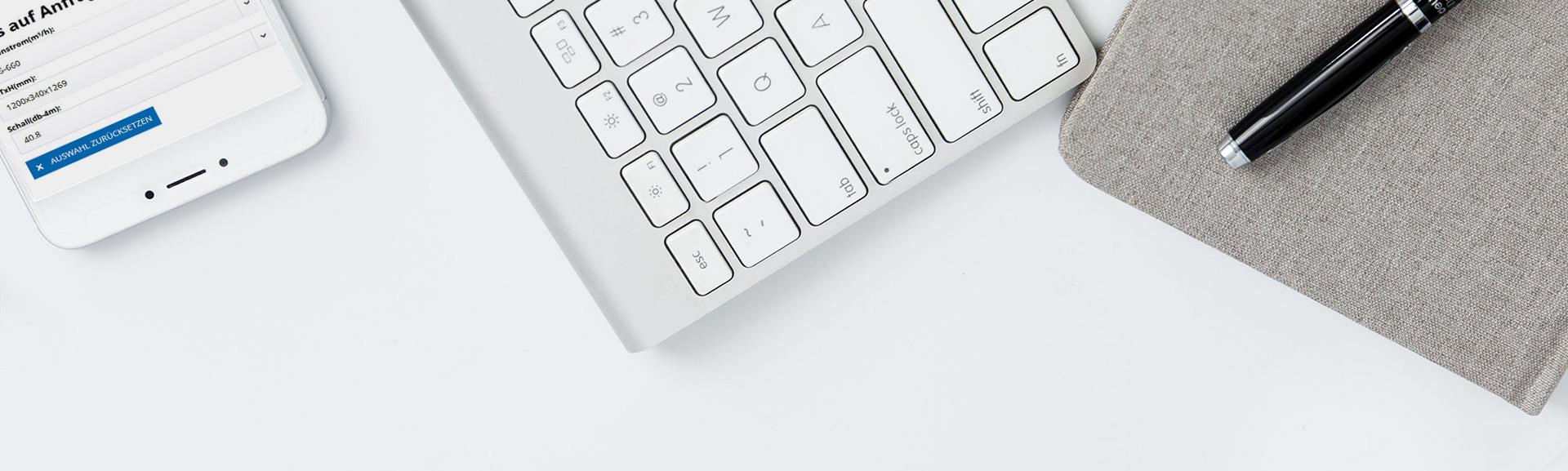 Foto Tastatur und Handy