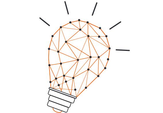 Grafik Glühbirne - responsive Web Applikationen Entwicklung