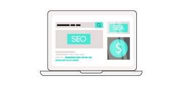 Grafik PC SEO/SEA Marketing