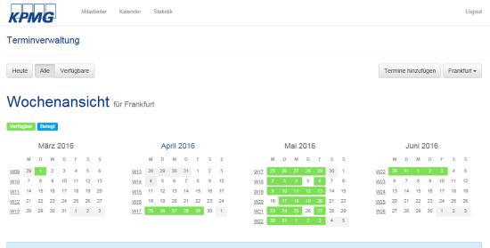 Terminplanungssoftware KPMG
