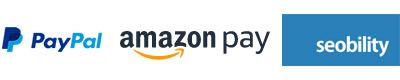 Partner: PayPal, AmazonPay, Seobility