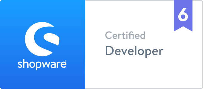Zertifizierung: Shopware 6, Certified Developer