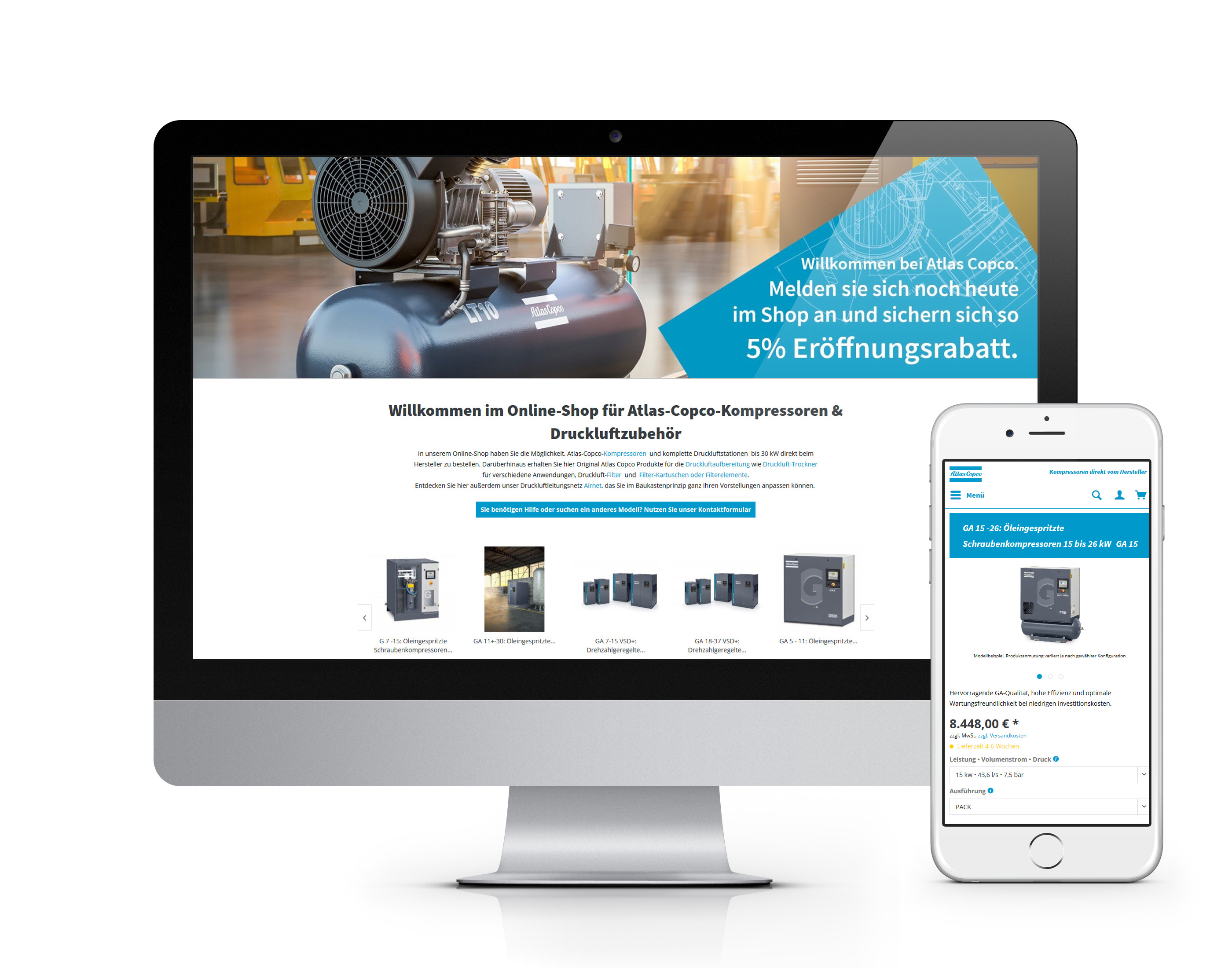 Atlas Copco Shopware Shop